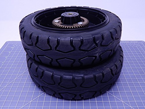 Pair of 2 Toro 133-2634 9 Inch Wheel Assembly w Gear Lawnmower Lawn Mower Drive Wheels