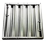 20'' tall x 20'' wide x 2'' Trine Heavy Duty Aluminum Restaurant Hood Baffle Filter (Dual Riveted / Ridged Baffle)