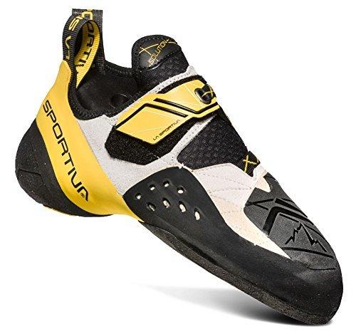 La Sportiva Solution Climbing Shoe - Men's, White/Yellow, 42