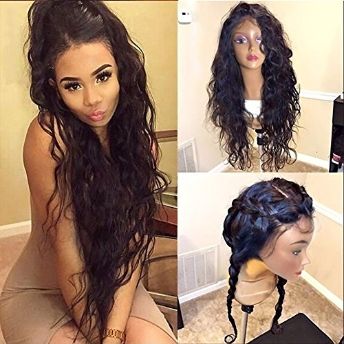Thriving Hair 200% Density Water Wave 360 Lace Frontal Wig Pre-Plucked Hairline 360 Lace Front Human Hair Wigs for Black Women (22inch with 200% density)