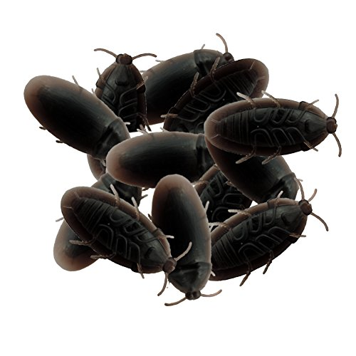 12 Pack Creepy Crawly Rubber Cockroaches