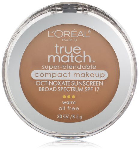 L'Oreal Paris True Match Super-Blendable Compact Makeup, Sun Beige, 0.3 oz.