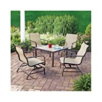 5 Piece Patio Furniture Set.This Outdoor Patio Conversation Set Includes Four Comfortable Rocking Motion Chairs. from Mainstays