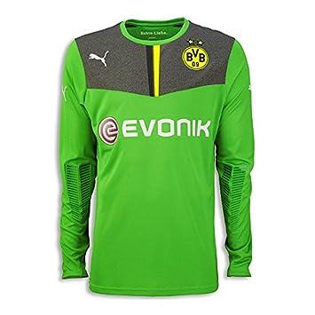4f30a978b21 Puma Men's Borussia Dortmund Goal Keeper Shirt - Green - X-Large ...