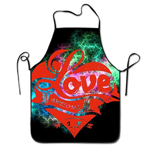 I Love My Awesome Wife Design Cooking Funny Apron for Kitchen BBQ Barbecue Cooking Grilling Tailgate Bacon