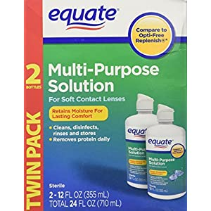 Equate - Multi-Purpose Contact Lenses Solution - 12 oz Each by Equate