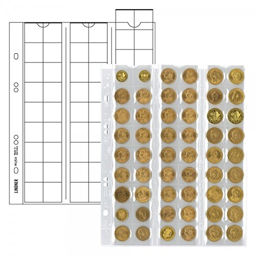 Coin pages UNIVERSAL for 54 coins, 5 pieces [Lindner MU54]