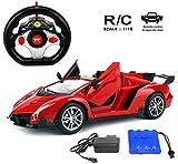 MousePotato 1:16 Lamborghini Style Sports Racing Car, Red