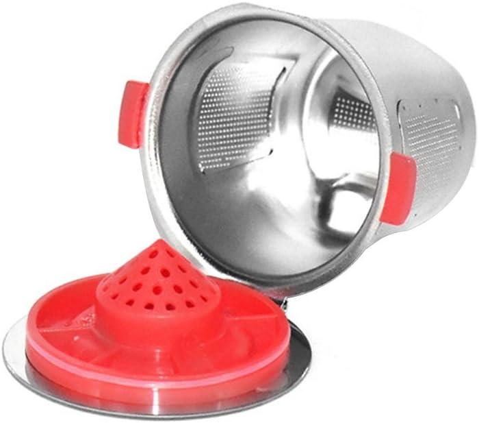 OurLeeme 1pc en acier inoxydable caf/é Capsule r/éutilisable Rechargeables tasse de caf/é pour paniers Keurig K Cup K-Cup Pod