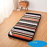 LJ&XJ Thick tatami mattress,Flannel bed mattress healthy floor mats foldable soft comfortable,Anti dust mite-F Twinch1