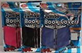 It's Academic Premium Edition Jumbo Book Cover Set of 3, 1 Black, 1 Blue Solid and 1 Pink Solid