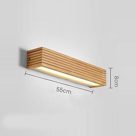 Apliques Japonés LED de Pared Escalera de Madera nórdica Pasillo Espejo de baño lámparas Delanteras Dormitorio lámpara de Noche lámpara de Pared: Amazon.es: Hogar