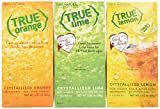 True Lemon, True Lime & True Orange Dispenser Packets 100ct (3pk Variety). Sugar Free Drink Mix, Natural Flavored Water Enhancer, Great Powdered Drink Mix Packets for Paleo Diet, Atkin's Diet, or Other Diets. 100% Natural Drink Mix