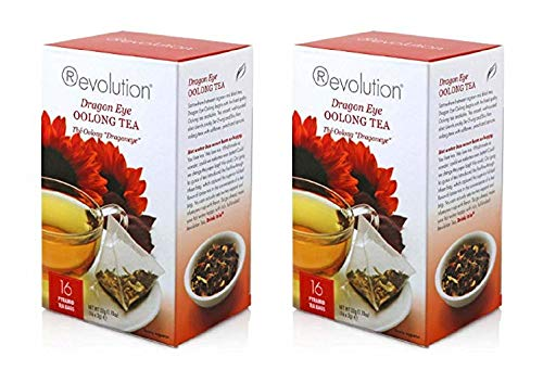 Dragon Infuser - Revolution Tea, Dragon Eye Oolong Tea, 16 Flow-through Infuser Bags in a Stay-fresh Container (2)