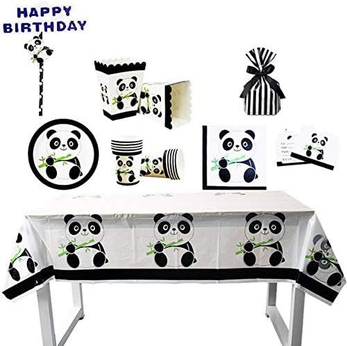 Tipo 10 XFGHZSEDGTFHZFDGHN Panda Birthday Party Decorativi Oggetti di Scena Set di Posate per Feste Bicchiere di Carta Trayl Fashion