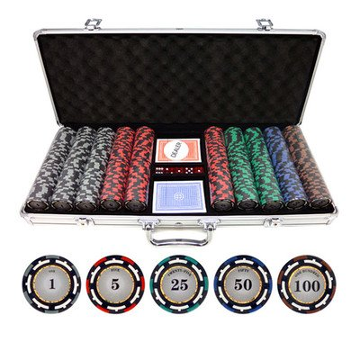 - 500 Piece Z-Pro Clay Poker Chips