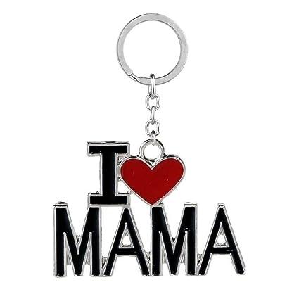 Teydhao I Love Mom/Dad/Mama/Papa Cartas Colgante Llavero ...