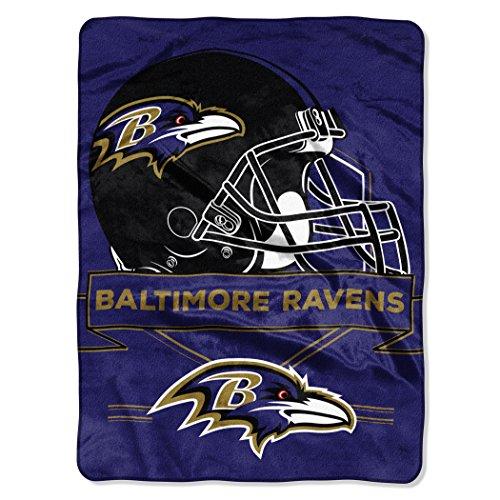 NFL Baltimore Ravens Prestige Plush Raschel Blanket, 60