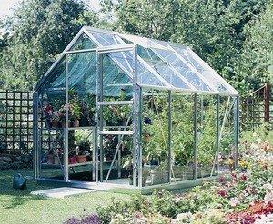 Chalet Jardin - Serre de jardin verre horticole et metal 5.5m2 ...
