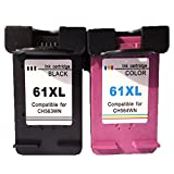 Remanufactured for HP 61XL Ink Cartridge 61XL Black CH561WN and 61XL Color CH562WN (1 Black, 1 Color) New Version for HP Printers Deskjet 1000 Deskjet 1050 Deskjet 2050 Deskjet 3000