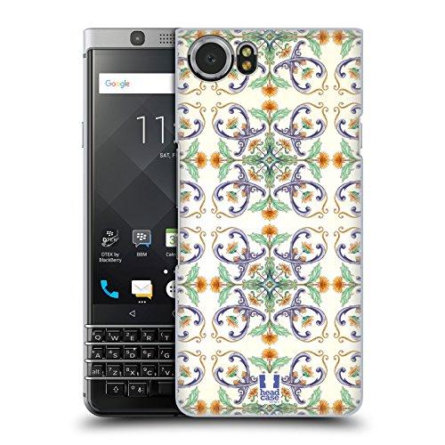 Head Case Designs Sunflower Vines Majolica Print Hard Back Case for BlackBerry KEYone / Mercury (Berries Majolica)