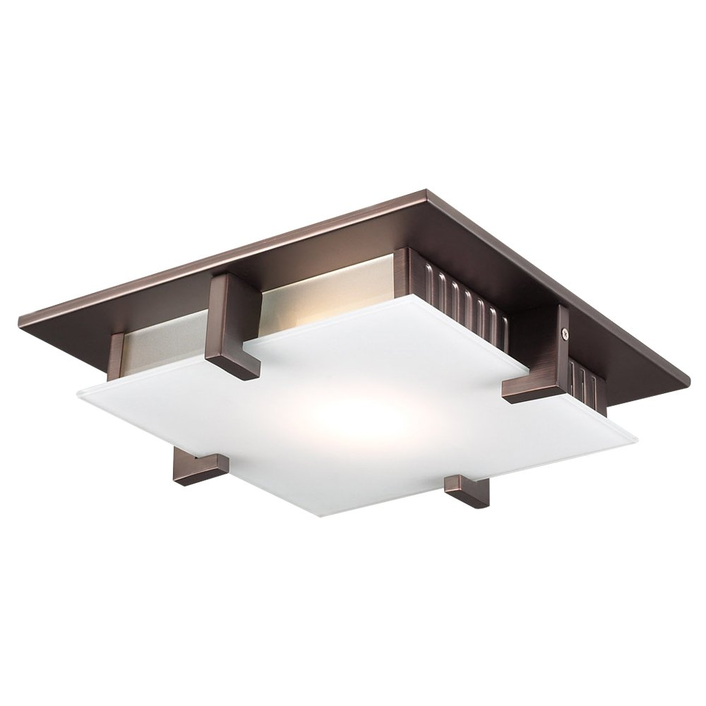 PLC Lighting 907 ORB 1 Light Ceiling Light Polipo Collection by PLC Lighting