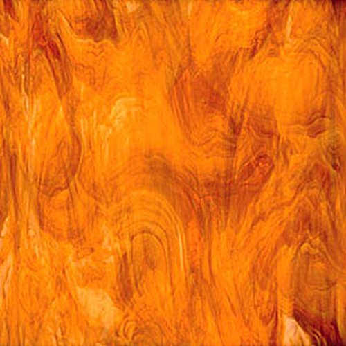 Spectrum Medium Amber (Honey) & White Opal Glass 12 x 12 Sheet 3172 Amber Opal Stained Glass