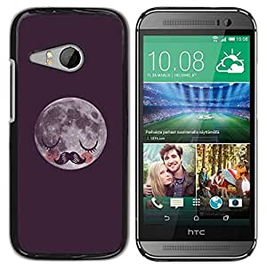 DIY PHONE CASE / Slim Protector Hard Shell Cover Case for HTC ONE MINI 2 / M8 MINI / Moustache Sleeping by ruishername
