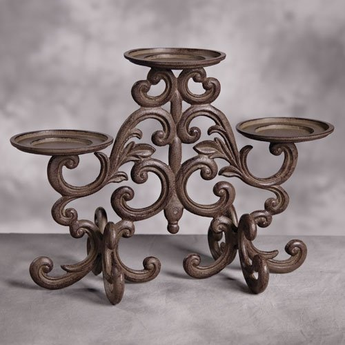 The GG Collection Scrolled Candle Holder