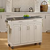 Home Styles Create-a-Cart White Finish Stainless Top - Asian Inspired