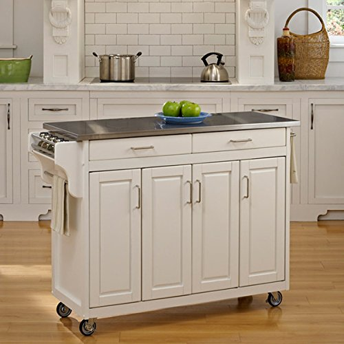 Home Styles Create-a-Cart White Finish Stainless Top - Asian Inspired by Home Styles