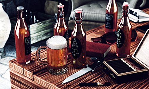 Chalky Talky 36 Reusable Personalized Beer Bottle Adhesive Labels for Home Brewing - Hand Printable Labels Waterproof by Chalky Talky Chalkboard Beer Bottle Labels (Image #3)
