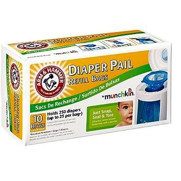 Amazon.com: Munchkin - Bolsas de recambio para pañales ...