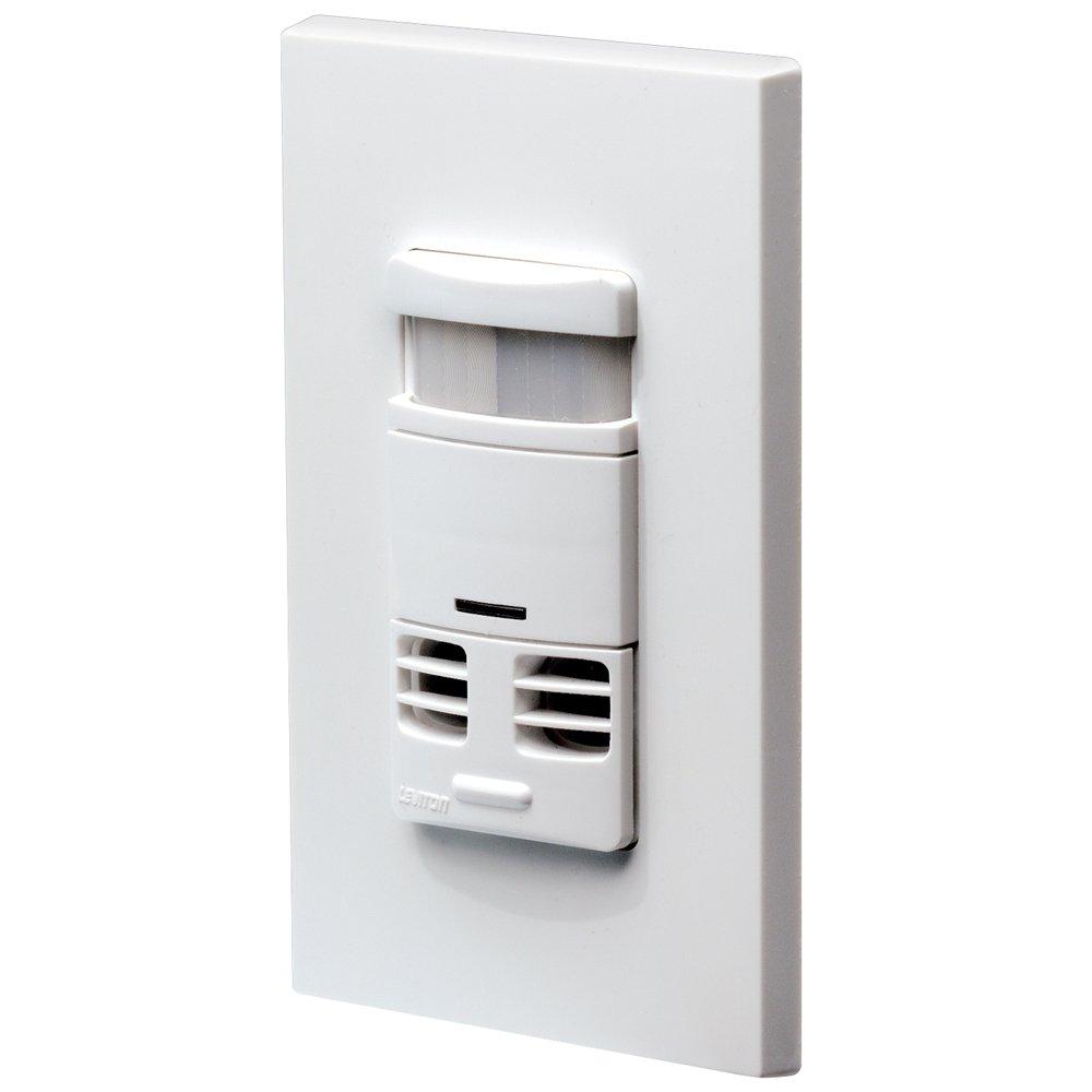 Leviton OSSMT-MDW Ultrasonic/Infrared Wall Switch Sensor, White by Leviton (Image #2)
