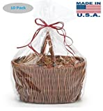 A1BakerySupplies High Quality Gift Wrap Cellophane Bags Preimum Quality Bags Made in USA - 10 Pack 1.2 MIL (30 In X 40 In)