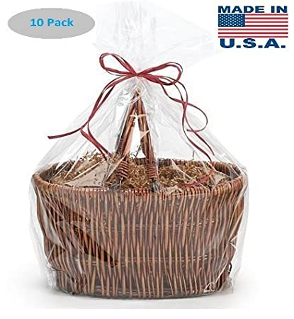 Amazon a1bakerysupplies high quality gift wrap cellophane bags a1bakerysupplies high quality gift wrap cellophane bags preimum quality bags made in usa 10 negle Images