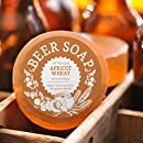 Beer Soap (Apricot Wheat) - All Natural + Made in USA - Actually Smells Good! Perfect Gift For Beer Lovers