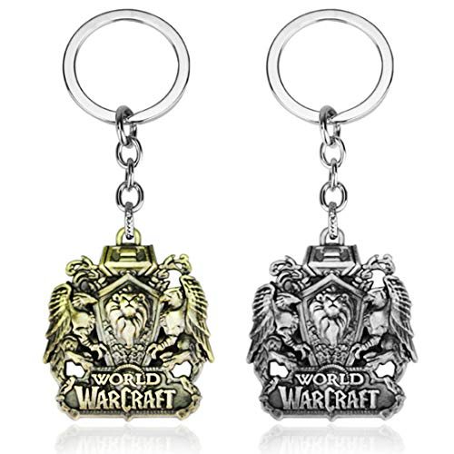 Reddream Pack of 2 World of Warcraft Game Keychain Pendant Charms Jewelry Gifts for Teens Collections