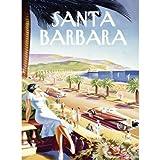 Santa Barbara Beach Resort 30''x40'' Planked Wood Sign Wall Decor Art