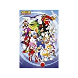 "Sonic The Hedgehog - TV Show Poster (The Whole Gang) (Size: 24"" x 36"")"