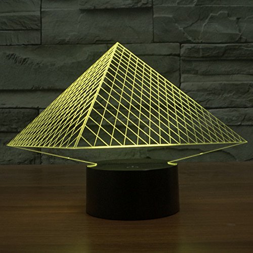 Comics+3D+Night+Lamp+ Products : Pyramid Shape 3D Led Night Light Acrylic Table Lamp Usb Touch Switch Xmas Gift