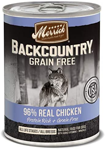 Merrick Backcountry Grain Free Wet Dog Food Case of 12