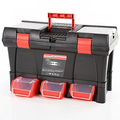Werkzeugkiste Werkzeugkasten Werkzeugbox Stuff Module Semi Profi-20 inkl. Kleinteilemagazin 52,5 x 25,6 x 32,5cm