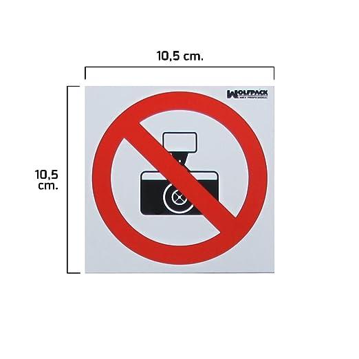 Wolfpack 15050537 Cartel Prohibido Hacer Fotografías, 10,5 x ...