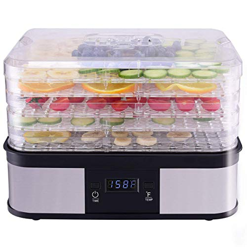 Costzon Food Dehydrator, Electric 5-Tire Fruit Vegetable Dry