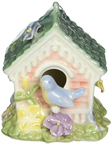 Cosmos 80082 Fine Porcelain Songbird Ornament Musical Figurine, 2-5/8-Inch
