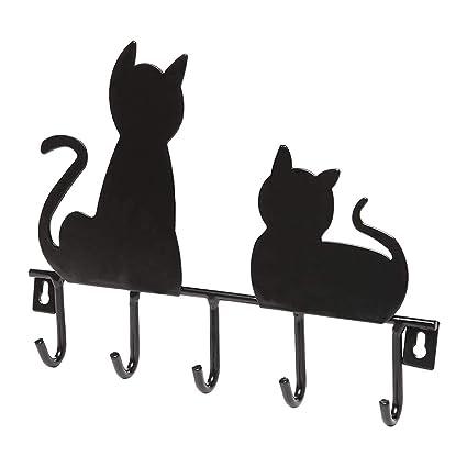 OUNONA Ganchos Perchero de Hierro Ganchos Llavero Ganchos multifunción (Gatos)