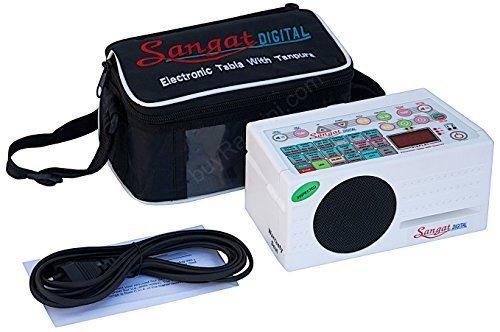 Sangat Digital Electronic Tanpura - With Tabla, Pakhawaj Dholak & Duff (5 in 1) Bag, Manual & Mains Cord By SOUND LABS - Tambura (PDI-DBF) (Manual Main)