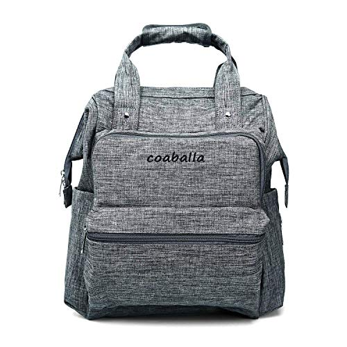 Diaper Backpack, Large Capacity Baby Diaper Bag, Multi-Function Travel Backpack Nappy Bags, Nursing Bag, Fashion Mummy, Roomy Waterproof for Baby Care, Stylish and Durable (Grey)