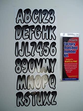 Hardline Products BLBKG200 Blue//Black Number Factory Matched Registration Kit